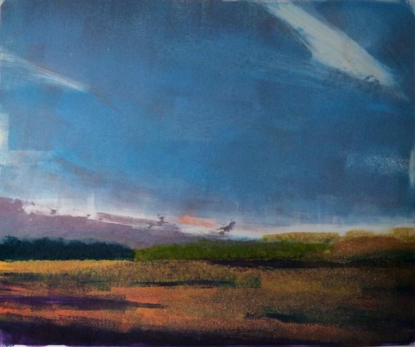 """Golden Wheat Fields"" original fine art by Mary Gilkerson"