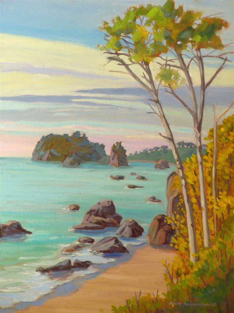 """North to Trinidad"" original fine art by Rhett Regina Owings"