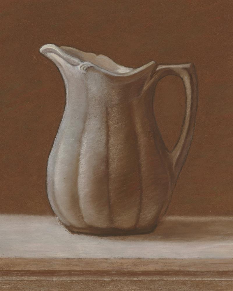 """""""Grandmother's Stoneware Pitcher"""" original fine art by Susan Fern"""