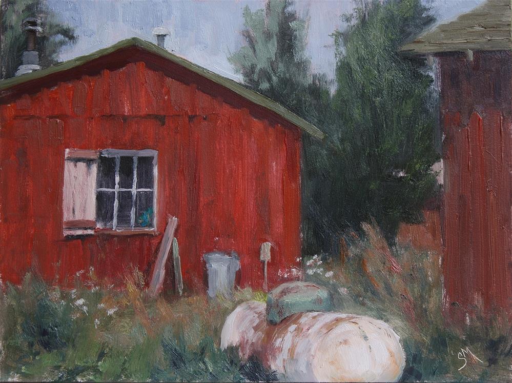 """""""Sipapu Cabin"""" original fine art by Sheila Marie"""