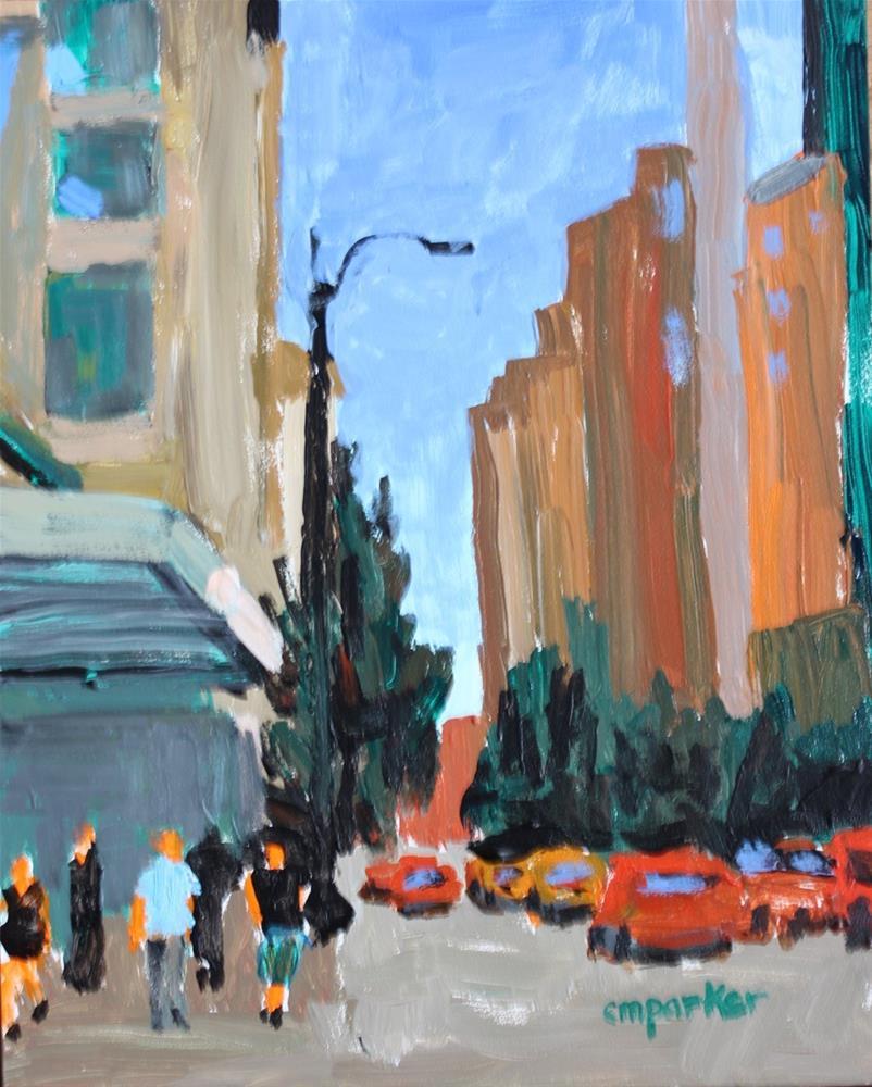 """Gritty City"" original fine art by Christine Parker"