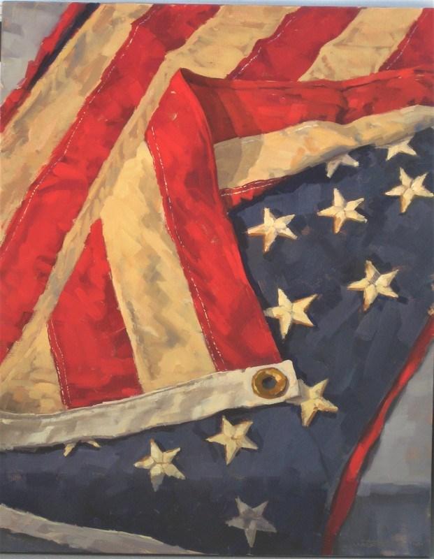 """Old Glory #6"" original fine art by Karen Werner"
