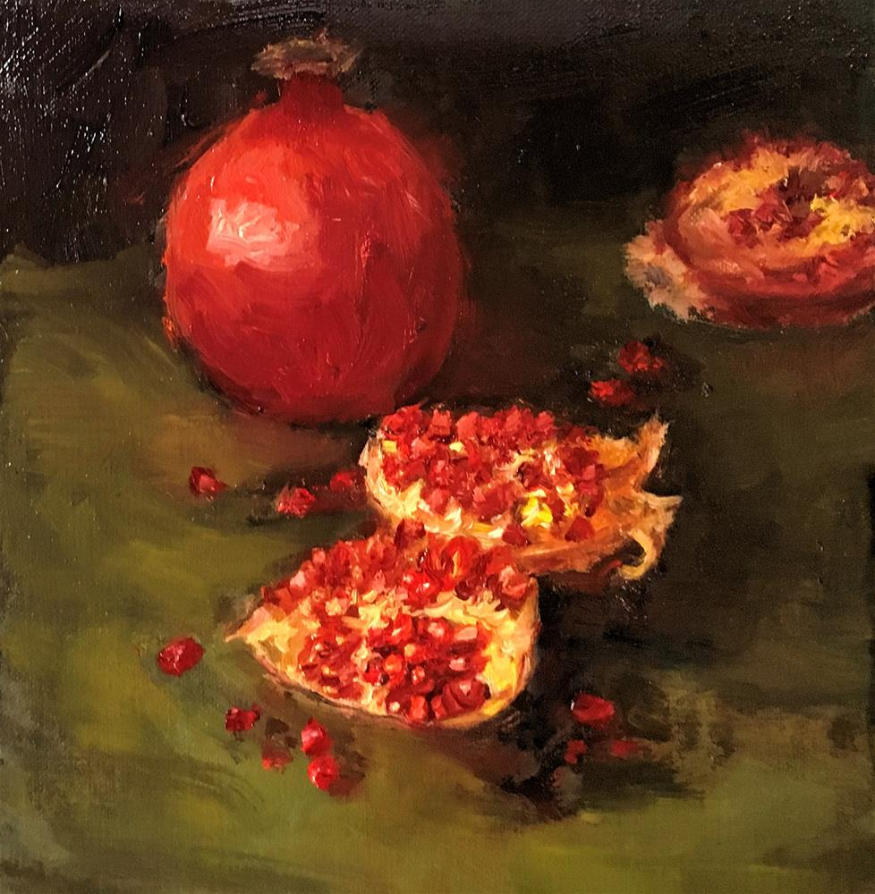 """Pomegranates"" original fine art by Patricia Matranga"