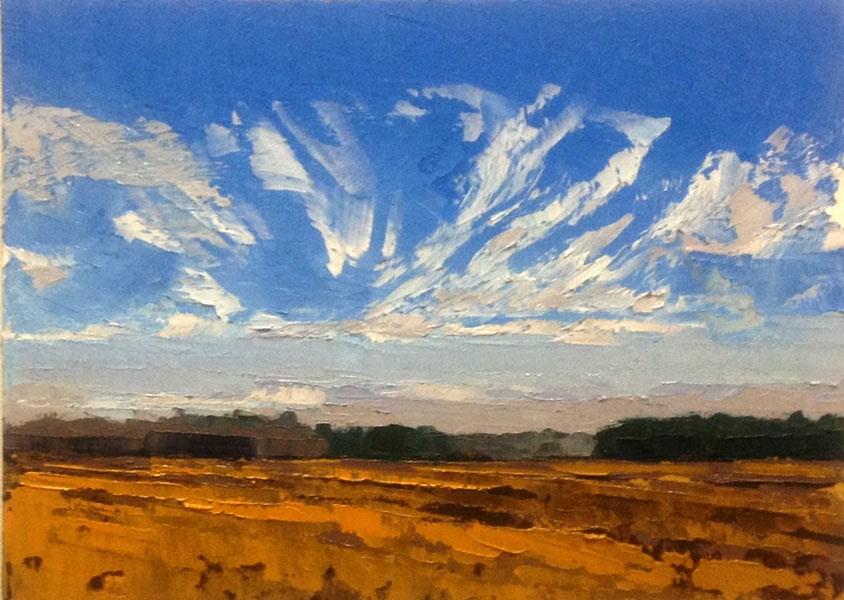 """""""Fan Cloud"""" original fine art by Mary Gilkerson"""