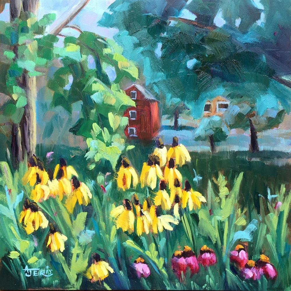 """Flowers Everywhere"" original fine art by Andrea Jeris"