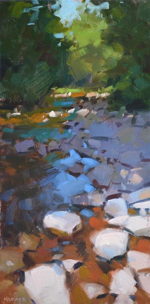 """Rock Creek"" original fine art by Carol Marine"