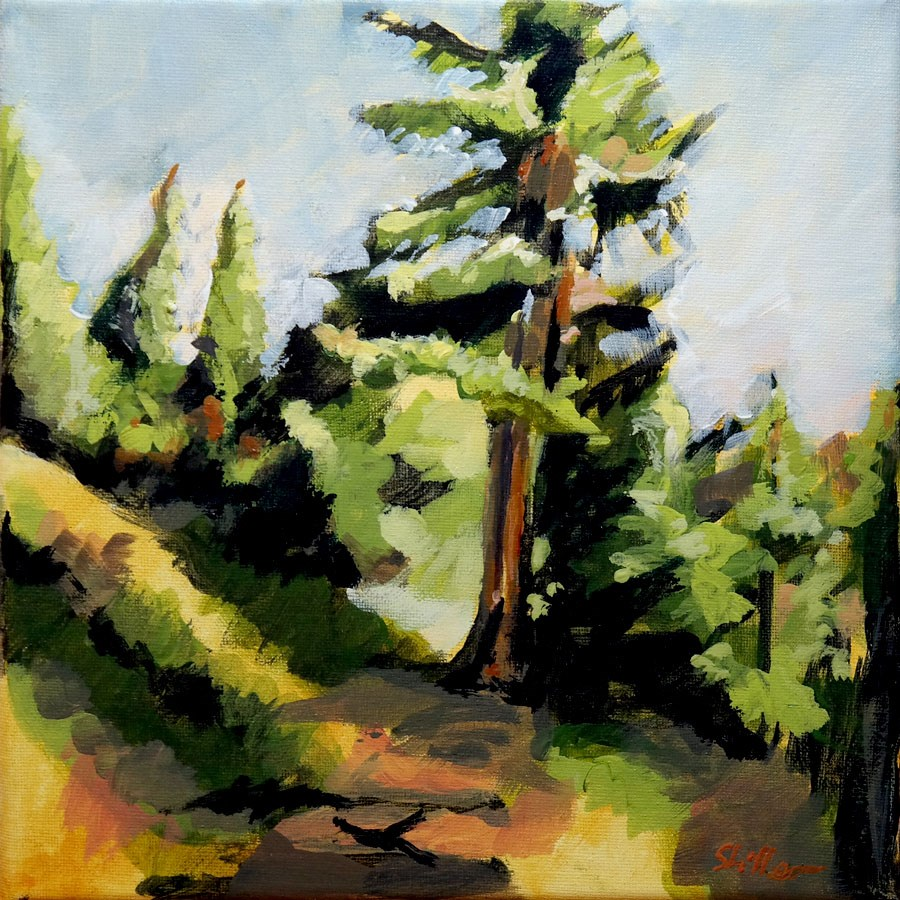 """2082 On Forest's Edge"" original fine art by Dietmar Stiller"
