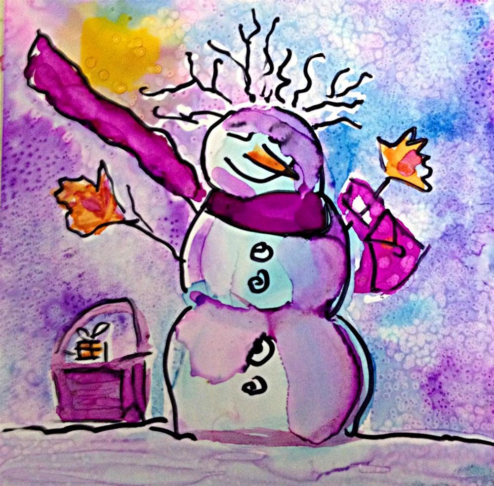 """""""Snowwoman3"""" original fine art by Kristen Dukat"""