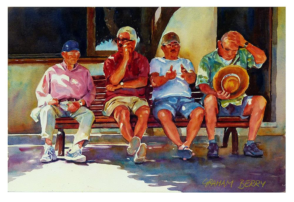 """""""Shady characters."""" original fine art by Graham Berry"""