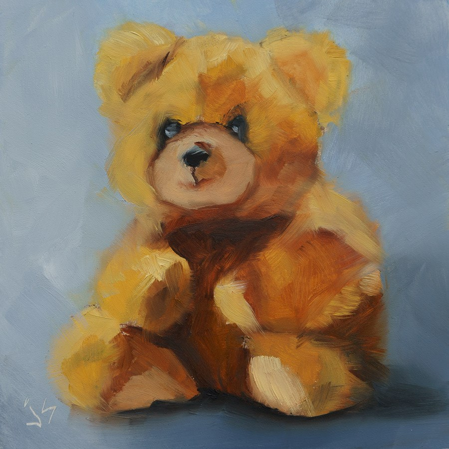 """Fuzzy Wuzzy"" original fine art by Johnna Schelling"