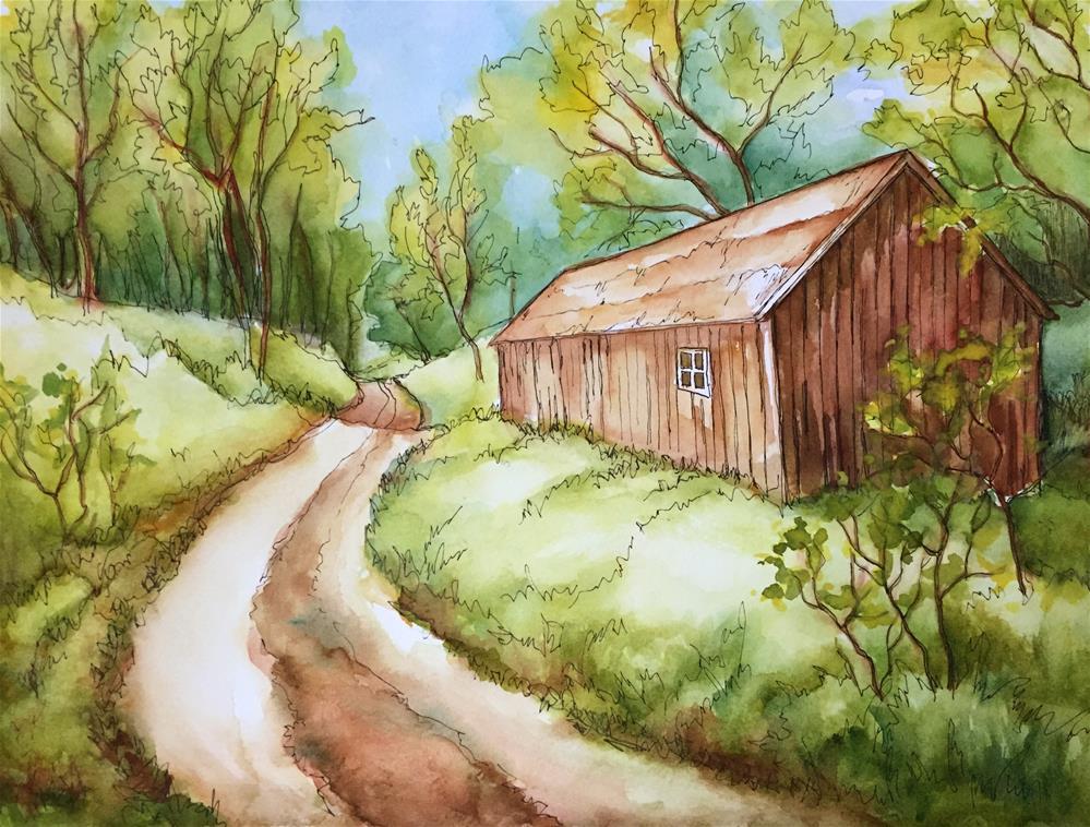 """Road uphill"" original fine art by Inese Poga"
