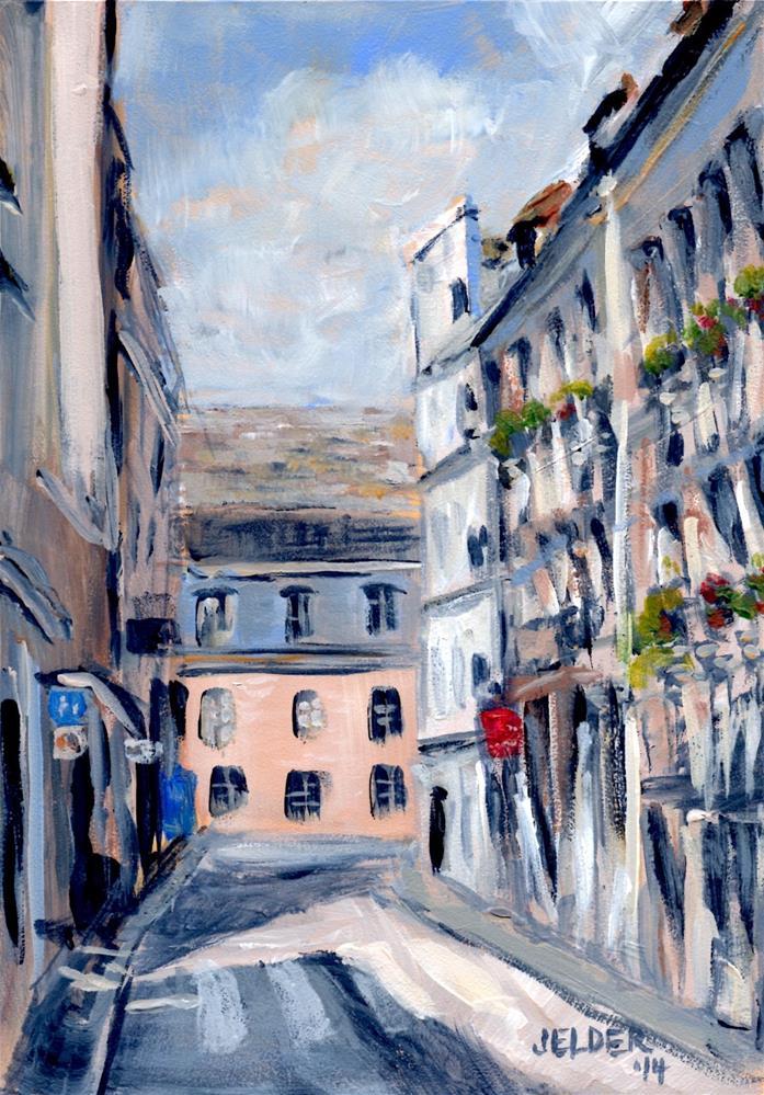 """Paris No. 55"" original fine art by Judith Elder"