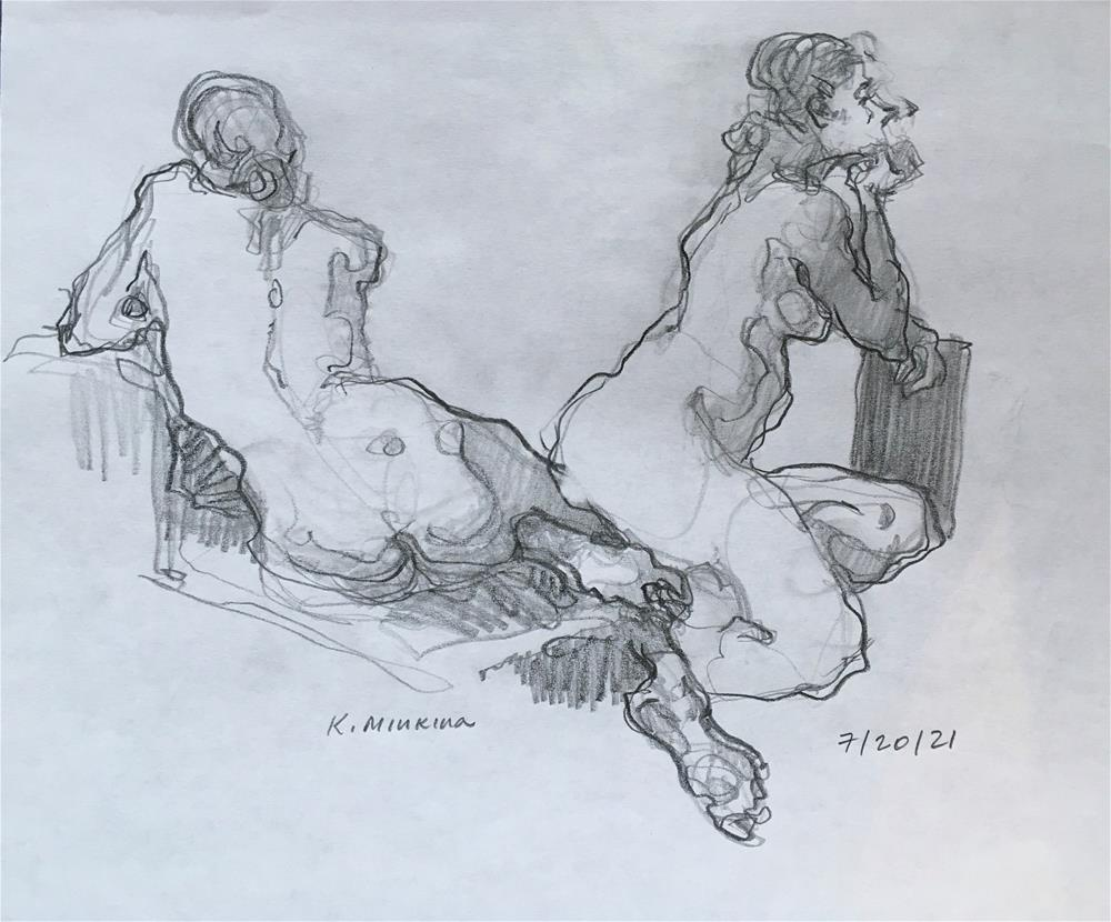 """Figure64"" original fine art by Katya Minkina"