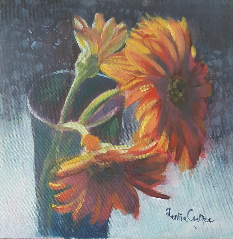 """""""Orange trio"""" original fine art by Rentia Coetzee"""