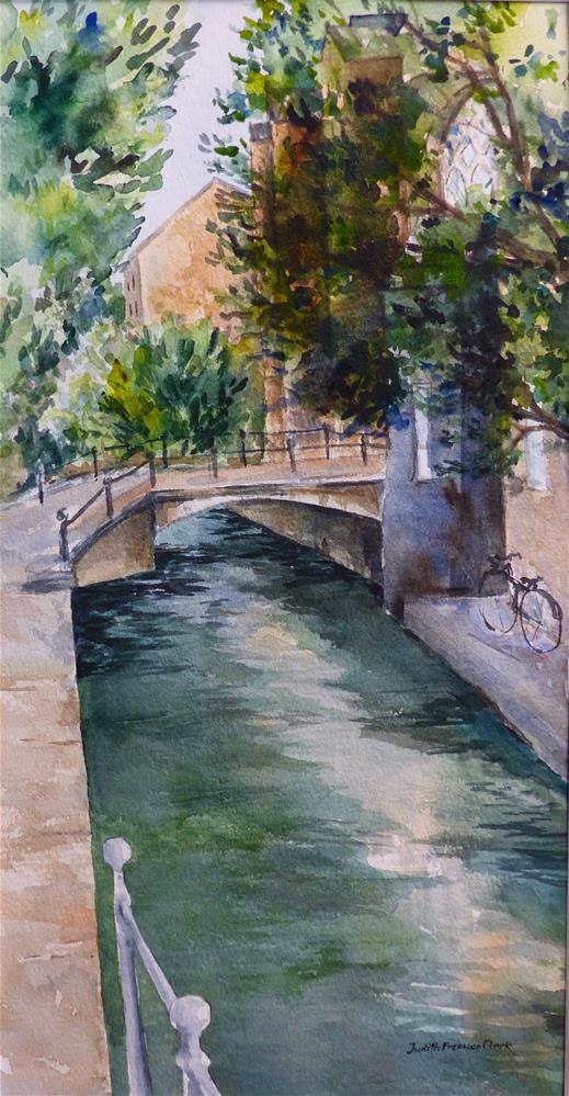 """Canal in Delft"" original fine art by Judith Freeman Clark"
