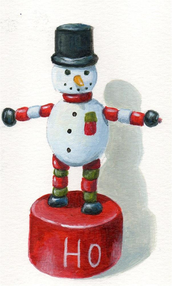 """Frosty Ho"" original fine art by Debbie Shirley"