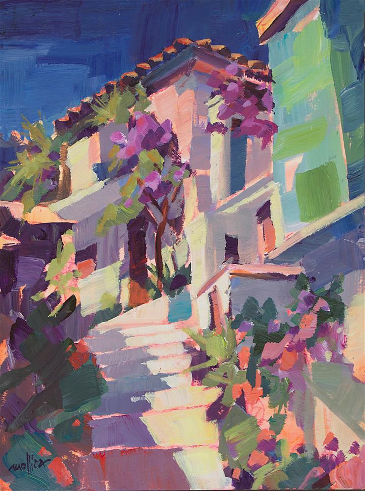 """Sixty Six Steps"" original fine art by Patti Mollica"