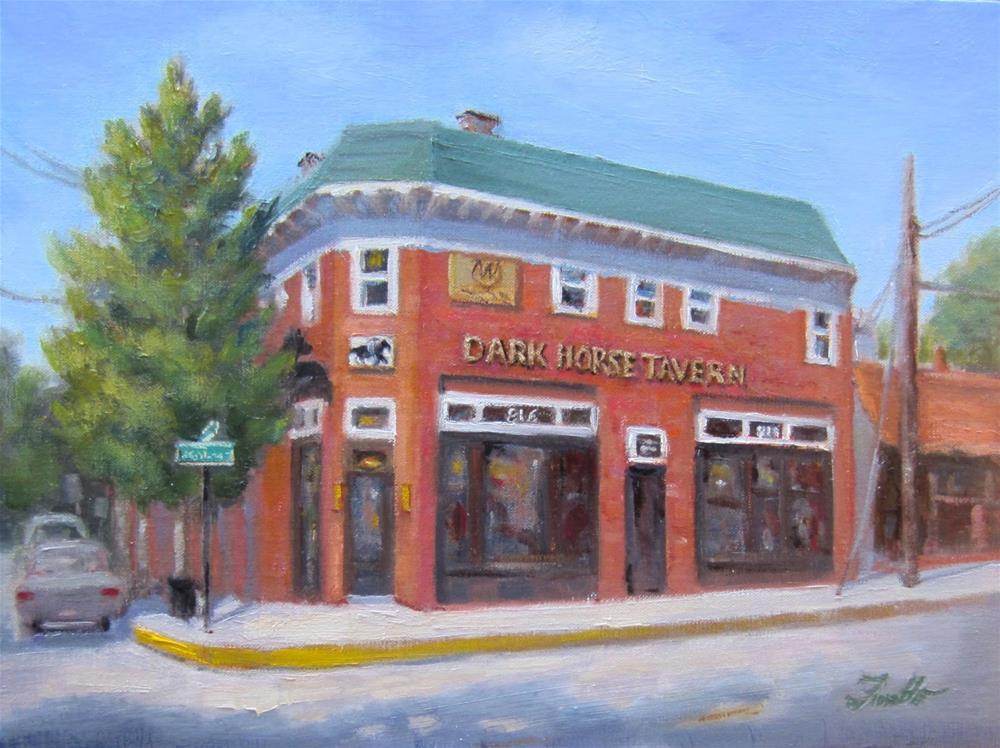 """Dark Horse Encounter"" original fine art by Pat Fiorello"