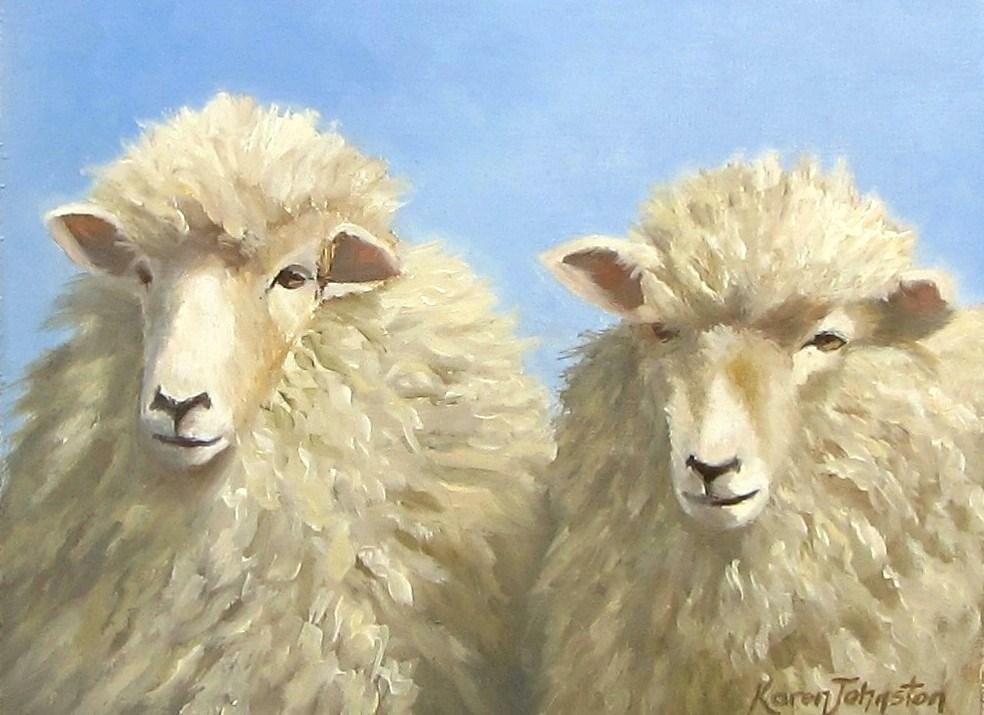 """""""Farm Girls"""" original fine art by Karen Johnston"""