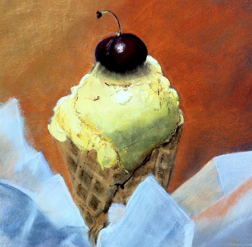"""""""Vanilla Cone"""" original fine art by Cristine Kossow"""