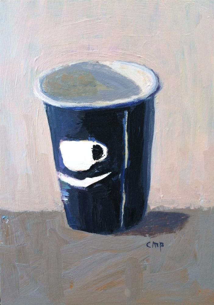 """Coffee Take Out"" original fine art by Christine Parker"
