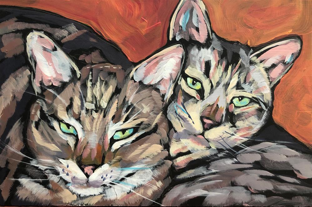 """""""March 10, Sol and Luna"""" original fine art by Kat Corrigan"""