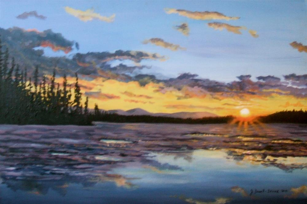 """Spring Break-Up, Yukon River"" original fine art by Jackie Irvine"