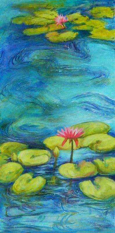 """Lilly Pond"" original fine art by Gloria Urban"