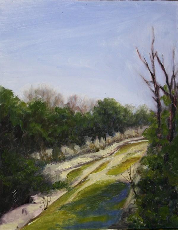 """Walnut Creek 2"" original fine art by Jane Frederick"
