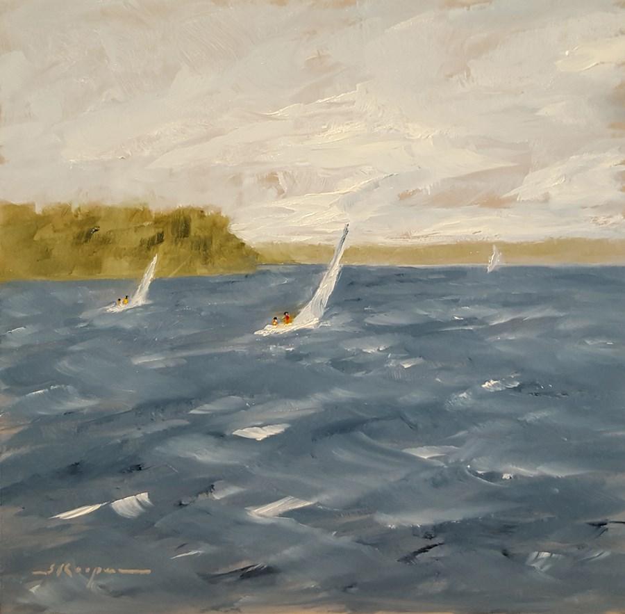 """Whitecaps on Smith Mountain Lake"" original fine art by Shelley Koopmann"