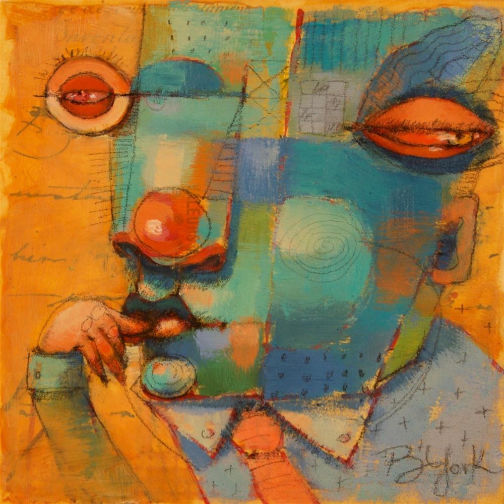 """ThumbSucker"" original fine art by Brenda York"