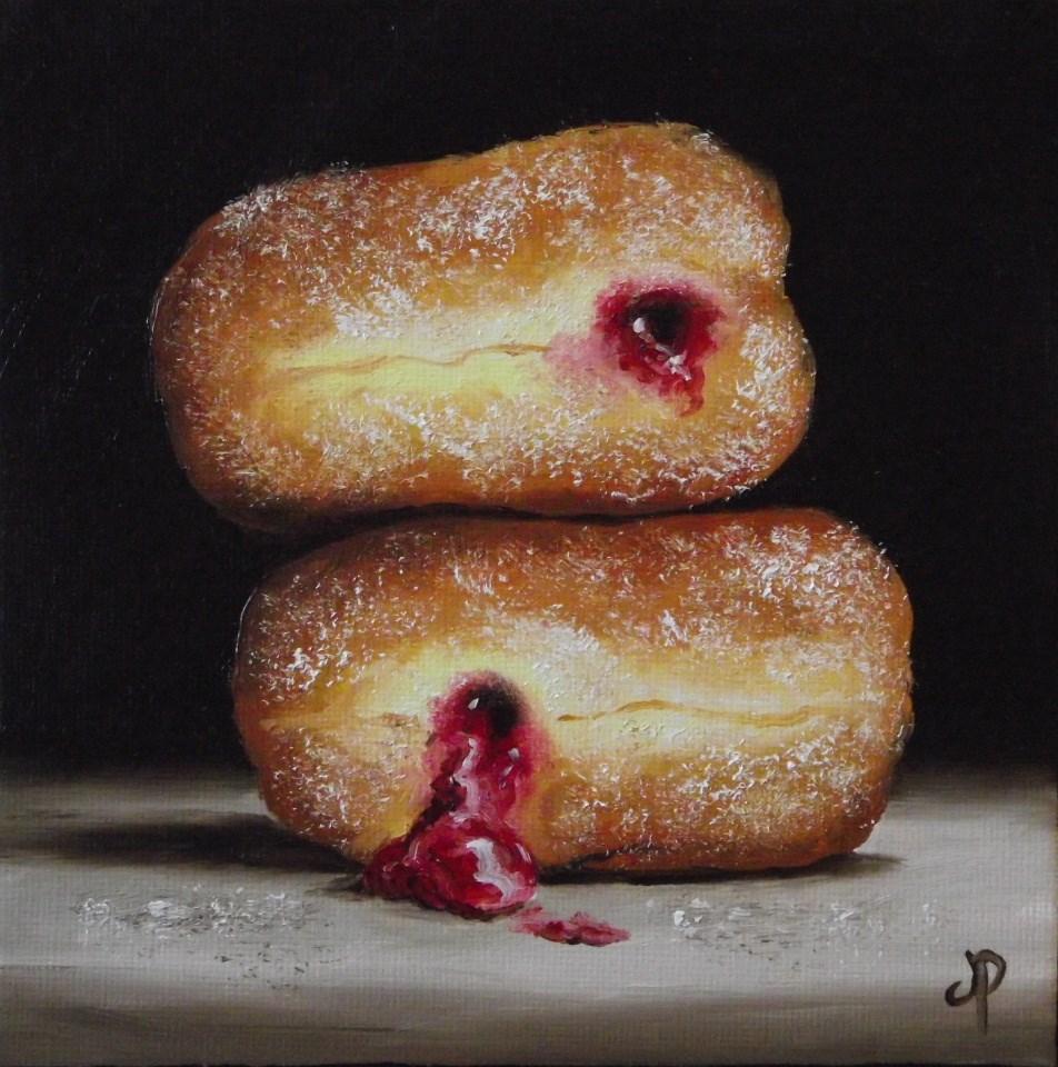 """Jam Doughnuts #11"" original fine art by Jane Palmer"