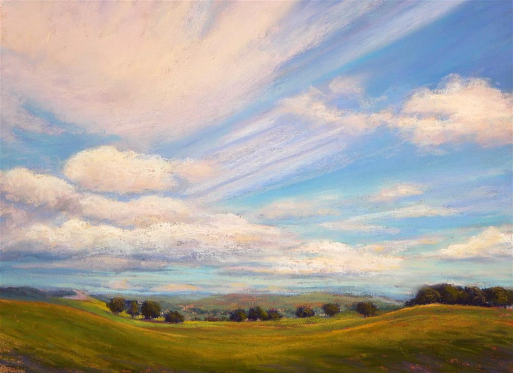 """Big Sky"" original fine art by Sharon Lewis"