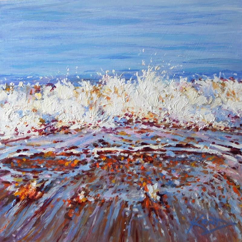 """""""Vane Tempest Pull"""" original fine art by Ken Devine"""