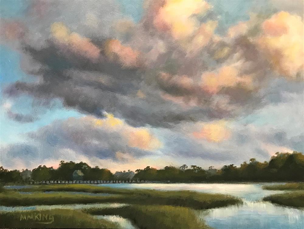 """""""High Tide in Garden City"""" original fine art by Marilyn M King"""