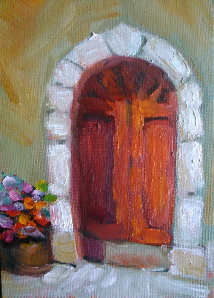 """""""The Red Door"""" original fine art by Gerri Obrecht"""