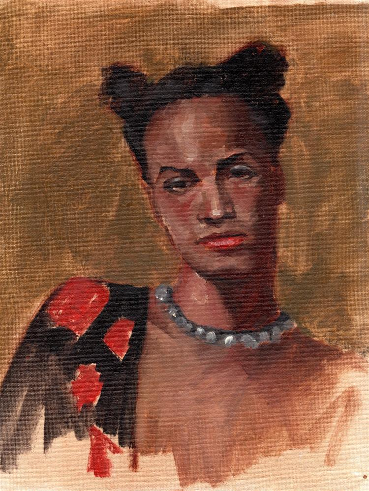"""Sri"" original fine art by Marlene Lee"
