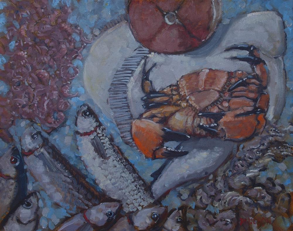 """Breakfast at the Rialto Market"" original fine art by Rick Nilson"