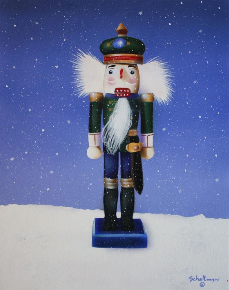 """Snowy Nutcracker"" original fine art by Fred Schollmeyer"