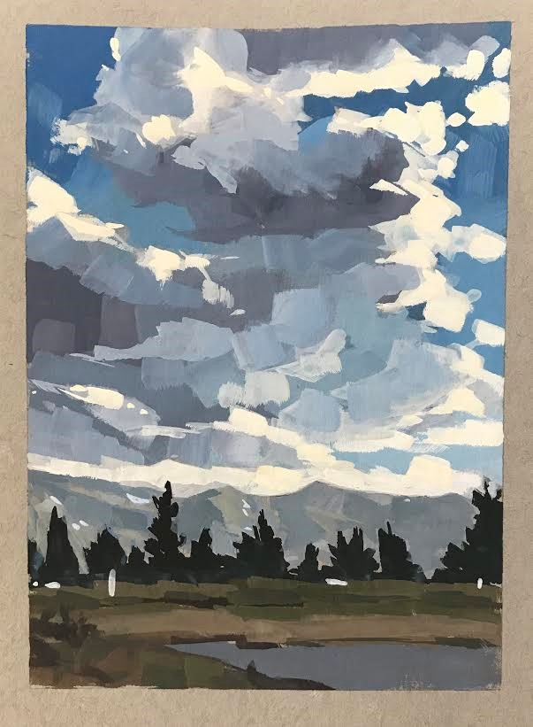"""Mammoth Mountain Sky"" original fine art by Sharon Schock"