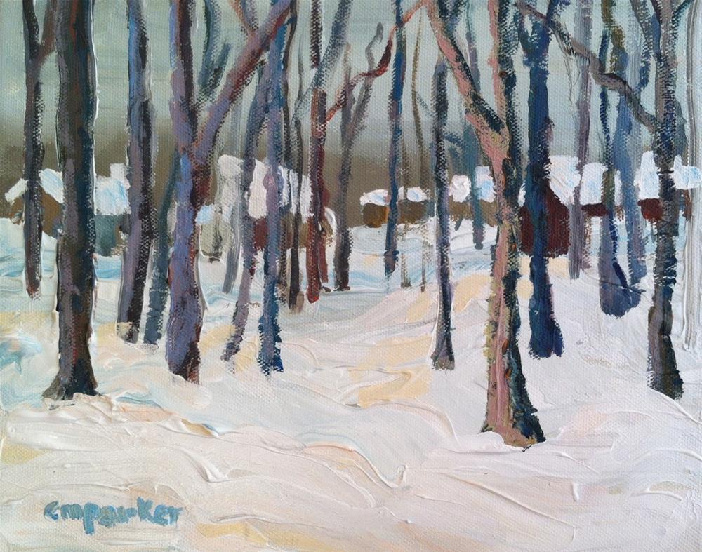 """DPW Snow Challenge"" original fine art by Christine Parker"
