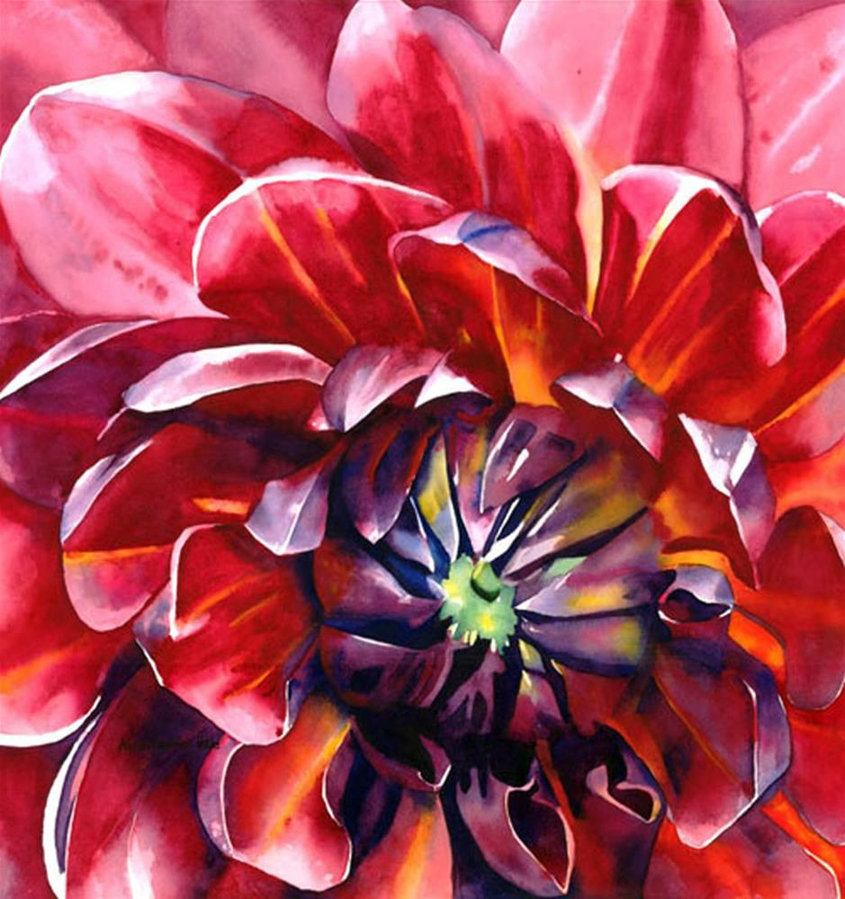 """Dazzling Dahlia"" original fine art by Anne Pekie"