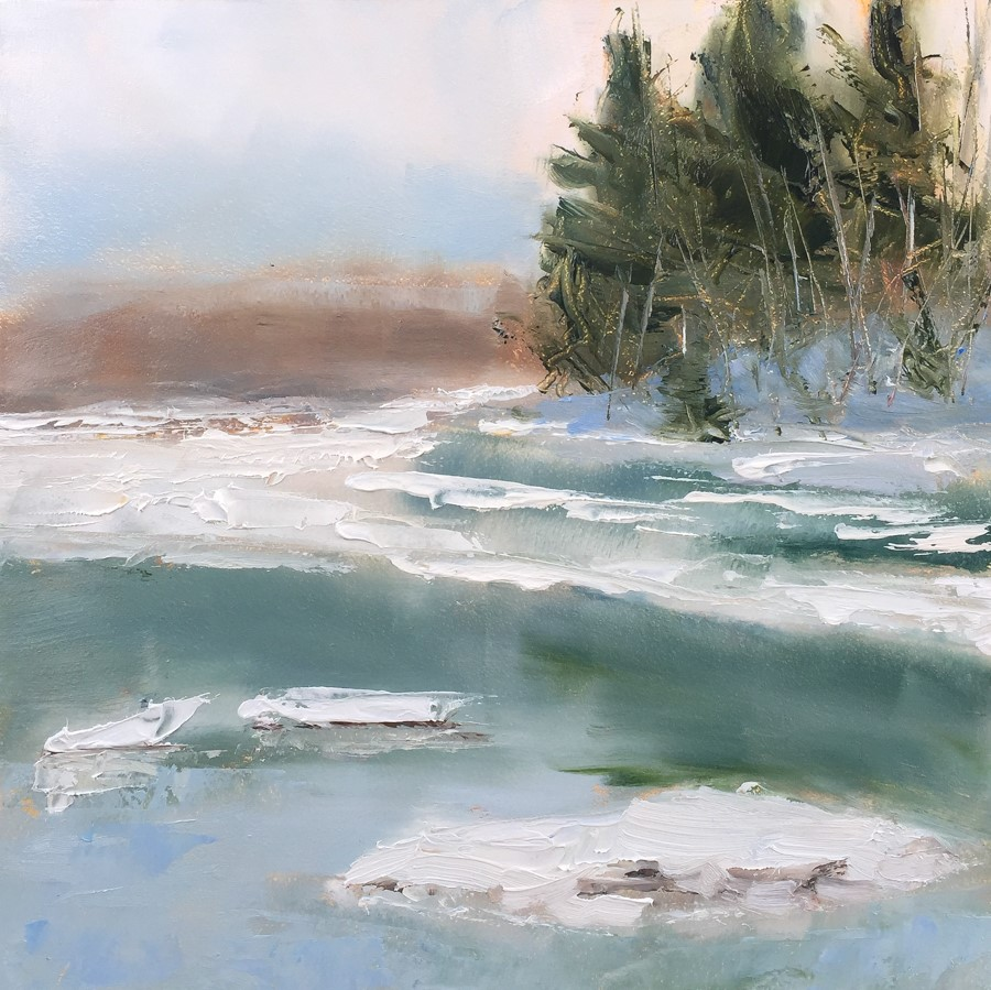 """#128 - Little River - Freeport, ME"" original fine art by Sara Gray"