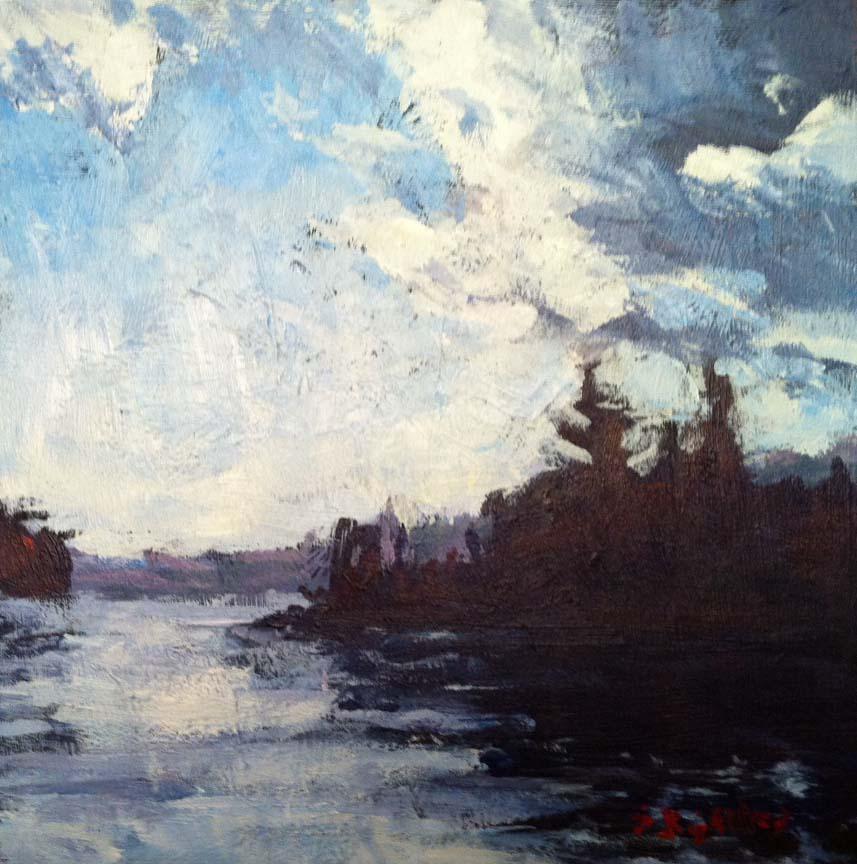 """twin islands"" original fine art by Shelley Garries"