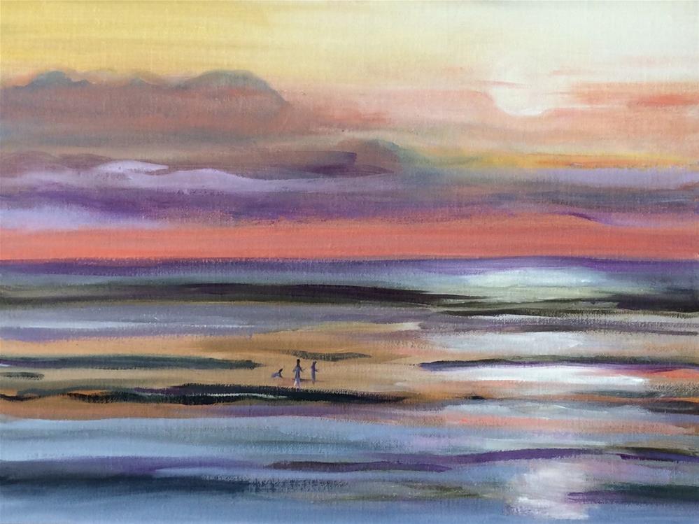 """Chapin Beach Sunset"" original fine art by Patty Barnes"