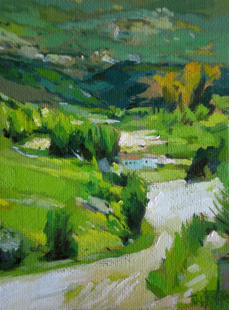 """Across the valley"" original fine art by Víctor Tristante"