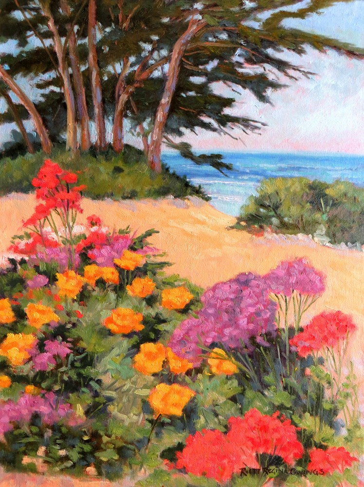 """Carmel Color"" original fine art by Rhett Regina Owings"