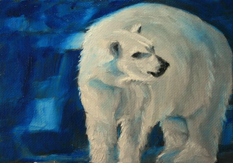 """""""Blue Ice"""" original fine art by Jean Nelson"""