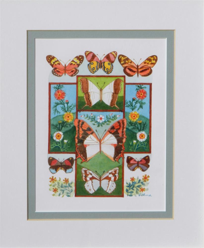 """""""Cross with Butterflies #2"""" original fine art by Velma Davies"""