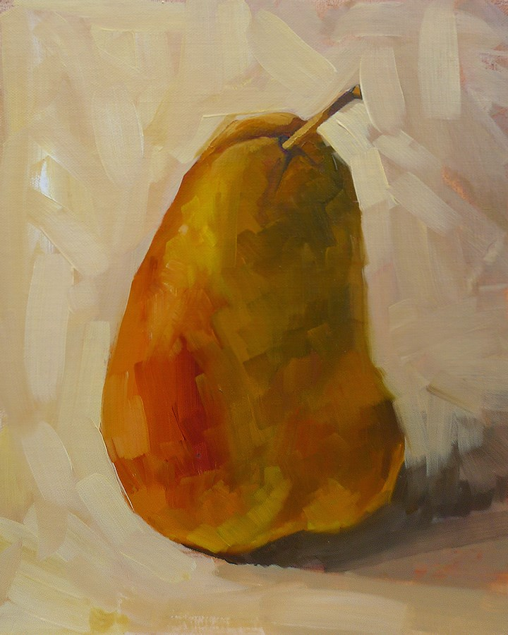 """Single Pear"" original fine art by Adam Houston"